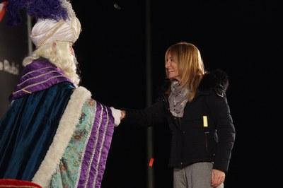 L'alcaldessa ha donat la benvinguda als Reis (foto: Localpres)