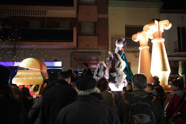 Melcior, al seu pas per l'avinguda de Barcelona (foto: Localpres)