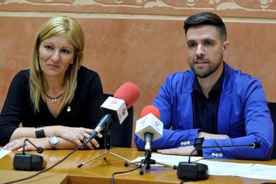 L'alcaldessa i el regidor de Cultura han presentat el nou festival (foto: Localpres).