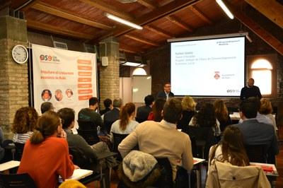 El regidor Rafael Güeto ha donat la benvinguda a la sessió informativa d'aquest dimarts.