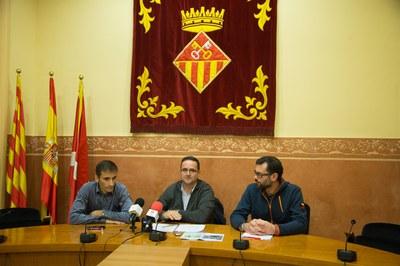 D'esquerra a dreta: José Manuel Santamaría, Josep Manel Castro i David Bea (foto: Localpres).