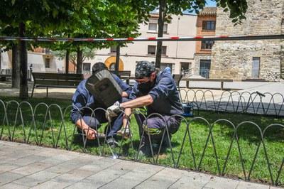 Instal·lació tanca a Doctor Guardiet (Foto: Ajuntament/Localpres).
