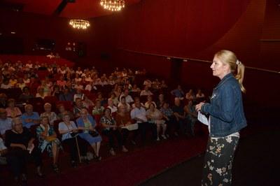 L'espectacle teatral a càrrec de la companyia Tiamat Teatre ha estat una de les activitats més participatives (foto: Localpres).