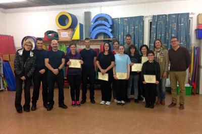 Les participants han rebut un diploma que acredita la seva assistència al taller