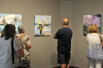 La mostra sobre Sorolla es pot veure aquest estiu al Punt d'Informació (foto: Localpres).