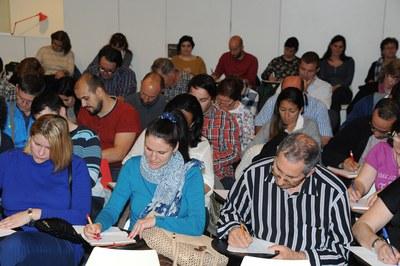 Una norantena de persones han participat al dictat (foto: Localpres).