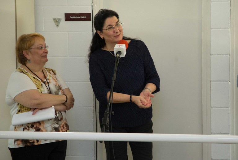 L'alcaldessa ha dirigit unes paraules als assistents (foto: Localpres)
