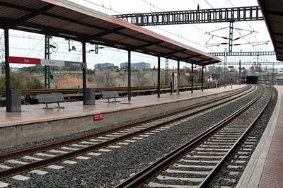 L'empresa ferroviària durà a terme obres de millora a l'estació de Rubí durant els propers 5 mesos i mig (foto: Renfe).