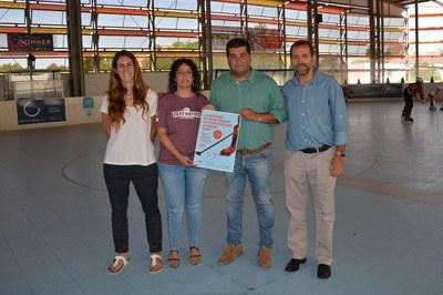 Mònica Piosa, Conchi Vaquero, Juan López i Ramon Basiana han presentat el campionat a la pista Francesc Calvo.