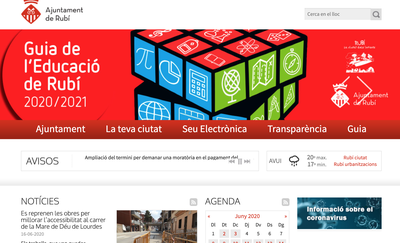 Captura de la web municipal .