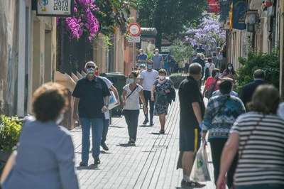 Durant la fase 3, desapareixen del tot les franges horàries per passejar i fer esport (foto: Ajuntament de Rubí – Localpres).