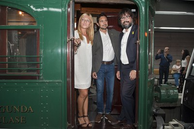 Acte central del centenari del tren (foto: Cesar Font)