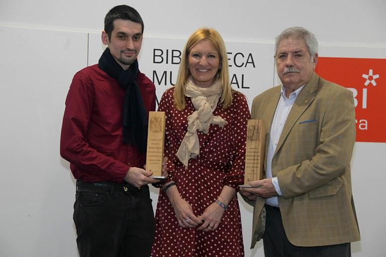 L'alcaldessa, amb Javier Contreras Becerra i Francisco Roldán Ortiz
