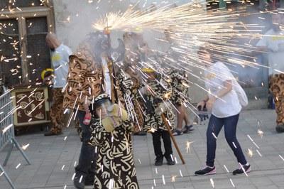 El foc és un dels protagonistes de Sant Roc (foto: Localpres).