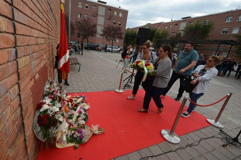 Ofrena floral de l'Hermandad Rociera Andaluza de Rubí (foto: Localpres)