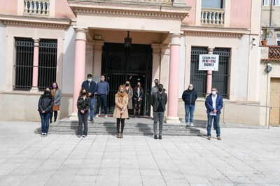 L'acte ha tingut lloc al punt del migdia (Foto: Ajuntament/Localpres).