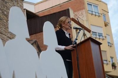 L'alcaldessa també ha dirigit unes paraules als assistents (foto: Localpres)