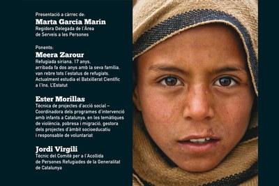 Tres ponents abordaran la situació dels infants refugiats.
