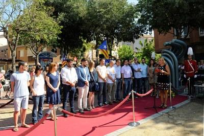 L'alcaldessa en el moment del discurs institucional (foto: Localpres).