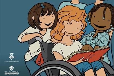 Detall del cartell del Dia Internacional de les Persones amb Diversitat Funcional.