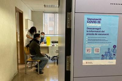 El CAP Sant Genís administrarà vacunes contra la COVID-19 sense cita prèvia fins divendres (foto: Ajuntament de Rubí).