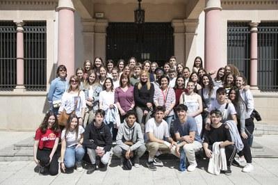 Estudiants rubinencs i belgues han visitat el consistori (Foto: Ajuntament-Lali Puig).