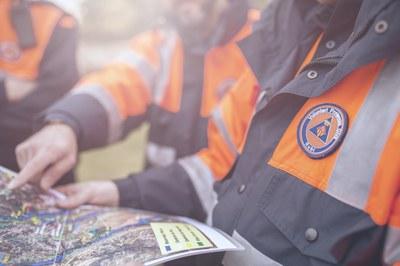 Protecció Civil, en alerta mentre duri el temporal (Foto: Ajumament).