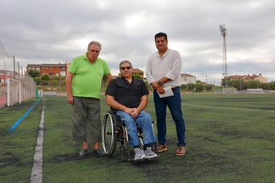 El president de l'ACEA, el president d'Horitzó i el regidor d'Esports.