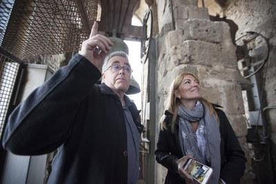 El campanar de Sant Pere i la maquinària del rellotge es podran visitar durant la diada de Sant Jordi (foto: Localpres).