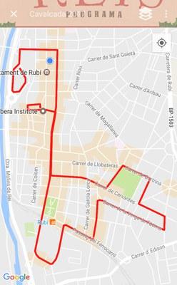 """El recorregut de la cavalcada es pot consultar a l'app """"Rubí Ciutat"""""""