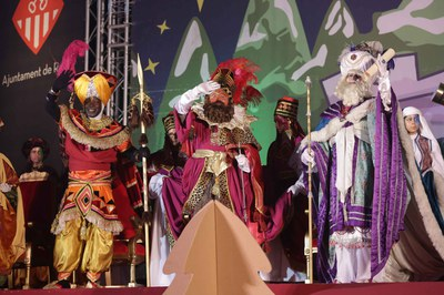 Els Reis, en la seva anterior visita a Rubí (foto: Localpres).