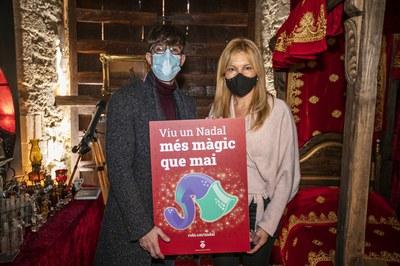 Moisés Rodríguez i Ana María Martínez Martínez, durant la presentació de la programació des del laboratori del Mag Rubisenc (foto: Ajuntament de Rubí – Lali Puig).