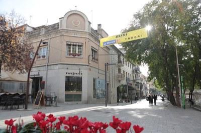 Les pancartes de suport a la Marató ja són al carrer (foto: Ajuntament de Rubí – Artur Ribera ).