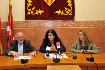 D'esquerra a dreta, Josep Estalella, Carme García i Mercè Botella (foto: Localpres).