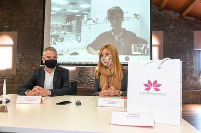 Un moment de la roda de premsa  (foto. Ajuntament de Rubí – Localpres).