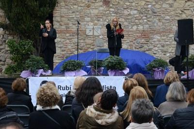 L'alcaldessa, Ana María Martínez, durant l'acte d'aquest dissabte (foto: Localpres).