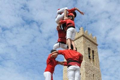 Els Castellers de Rubí durant Sant Roc (foto: Localpres).
