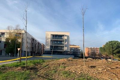 Un dels espais on s'han plantat nous exemplars és al c. Rossend Batalló, a Sant Jordi Parc (foto: Ajuntament de Rubí).