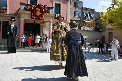 Els Gegants de Rubí no han faltat a la cita de Sant Pere (foto: Ajuntament de Rubí – Localpres).