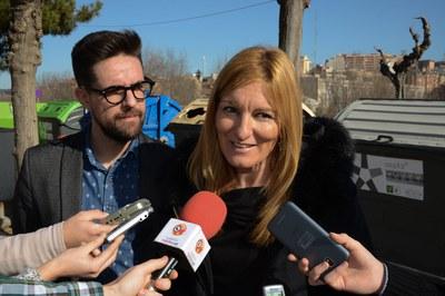 L'alcaldessa i el regidor, donant a conèixer les dades relatives a l'any 2017 (foto: Localpres).