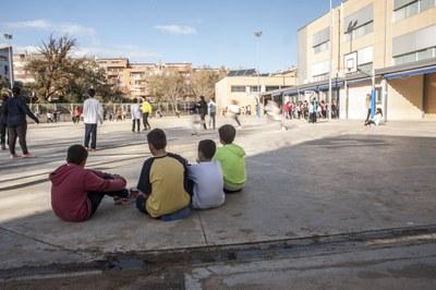 Imatge d'arxiu del pati d'una escola  (foto. Ajuntament de Rubí – César Font).