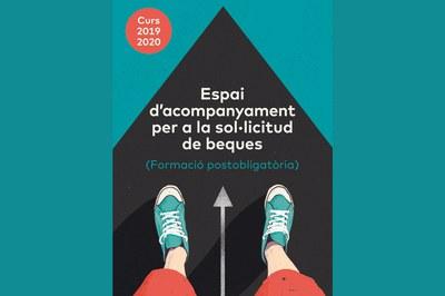 Cartell promocional de l'Espai d'acompanyament per a la sol•licitud de beques (imatge: Ajuntament de Rubí).