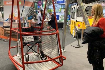 Al Congrés de l'IAKS s'han mostrat diferents productes relacionats amb equipaments esportius i d'oci (foto: Ajuntament de Rubí).