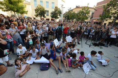 La comunitat musulmana, molt present (foto: Localpres)