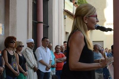 L'alcaldessa, durant la seva intervenció (foto: Localpres)