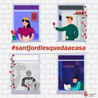 Rubí proposa que Sant Jordi es quedi a casa.