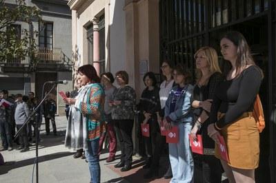 Un altre moment de la lectura (foto: Ajuntament de Rubí - Lali Puig)