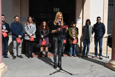 Totes les forces polítiques amb representació municipal han compartit la lectura del manifest (foto: Localpres).