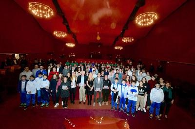 Una cinquantena d'esportistes han rebut el Rubeo d'Or en reconeixement dels seus èxits esportius (foto: Localpres).