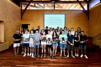 Els alumnes han estat reconeguts en el marc d'un acte celebrat al Museu Municipal Castell (foto: Localpres).